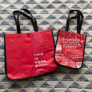Lululemon Pair of Shopper Bags Red Medium Small